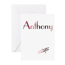 Anthony! Design #777 Greeting Cards (Pk of 10)