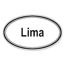 Lima (oval) Oval Decal