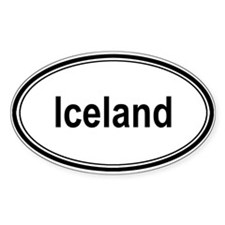 Iceland (oval) Oval Decal