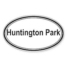 Huntington Park (oval) Oval Decal