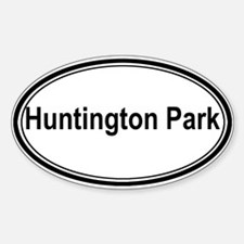 Huntington Park (oval) Oval Decal