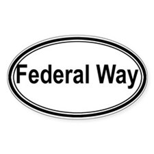 Federal Way (oval) Oval Decal