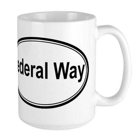 Federal Way (oval) Large Mug