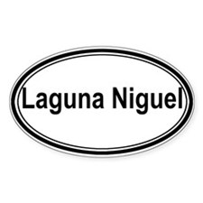 Laguna Niguel (oval) Oval Sticker (50 pk)