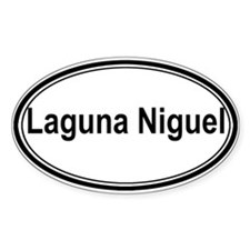 Laguna Niguel (oval) Oval Decal