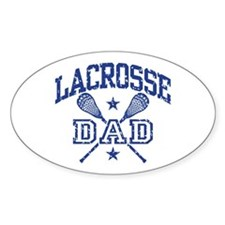 Lacrosse Dad Oval Decal