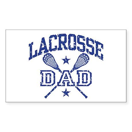 Lacrosse Dad Rectangle Sticker