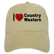 I Love Country Western Baseball Cap