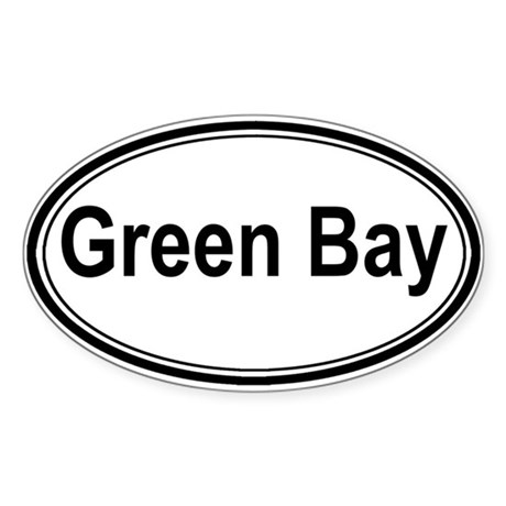 Green Bay (oval) Oval Sticker