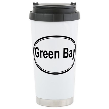 Green Bay (oval) Stainless Steel Travel Mug