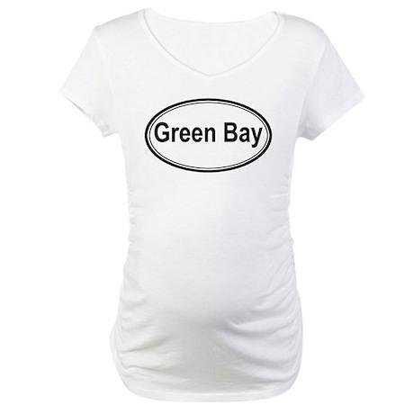 Green Bay (oval) Maternity T-Shirt