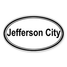 Jefferson City (oval) Oval Decal