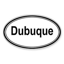 Dubuque (oval) Oval Decal
