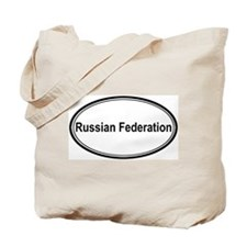 Russian Federation (oval) Tote Bag