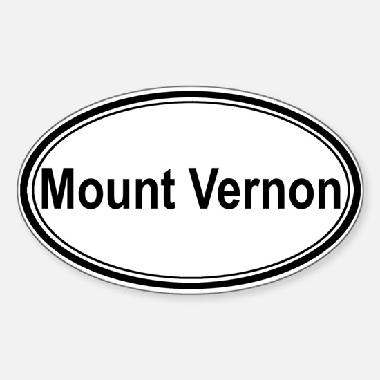 Mount Vernon (oval) Oval Decal
