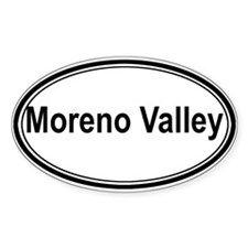 Moreno Valley (oval) Oval Decal