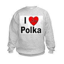 I Love Polka Sweatshirt