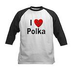 I Love Polka Kids Baseball Jersey