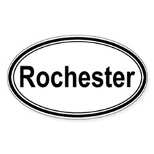 Rochester (oval) Oval Decal