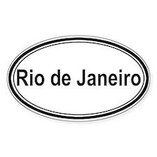 Rio de Janeiro (oval) Oval Decal