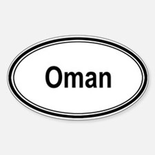 Oman (oval) Oval Decal