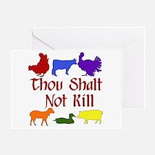 Thou Shalt Not Kill Greeting Card