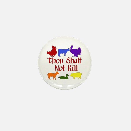 Thou Shalt Not Kill Mini Button (10 pack)