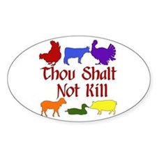 Thou Shalt Not Kill Decal