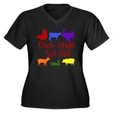 Thou Shalt Not Kill Women's Plus Size V-Neck Dark