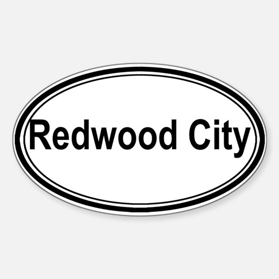 Redwood City (oval) Oval Decal