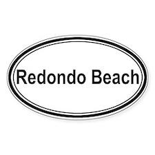 Redondo Beach (oval) Oval Sticker (50 pk)