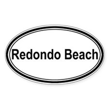 Redondo Beach (oval) Oval Decal