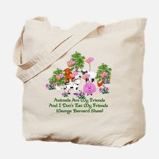 Shaw Anti-Meat Quote Tote Bag