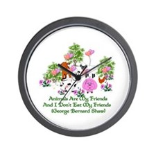 Shaw Anti-Meat Quote Wall Clock