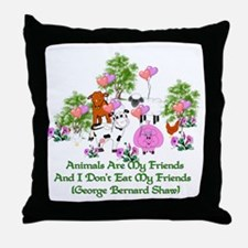 Shaw Anti-Meat Quote Throw Pillow