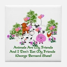 Shaw Anti-Meat Quote Tile Coaster