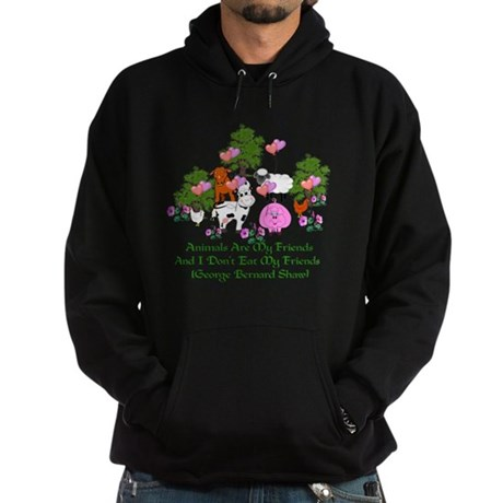 Shaw Anti-Meat Quote Hoodie (dark)