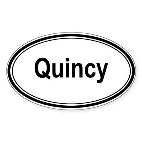 Quincy (oval) Oval Sticker