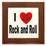 I Love Rock and Roll Framed Tile