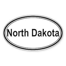 North Dakota (oval) Oval Decal