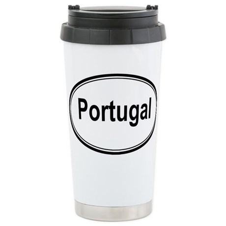 Portugal (oval) Stainless Steel Travel Mug