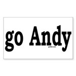 go Andy Rectangle Sticker