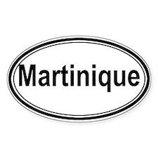 Martinique (oval) Oval Sticker (50 pk)