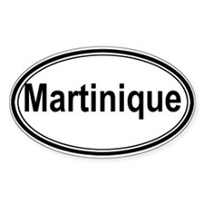 Martinique (oval) Oval Sticker (10 pk)