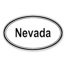 Nevada (oval) Oval Decal