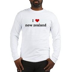I Love new zealand Long Sleeve T-Shirt