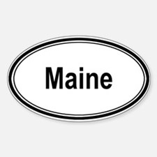 Maine (oval) Oval Decal