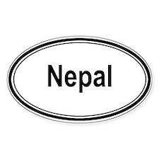 Nepal (oval) Oval Decal