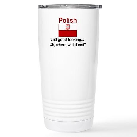 Good Looking Polish Stainless Steel Travel Mug