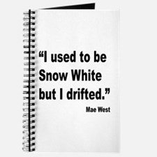Mae West Snow White Quote Journal